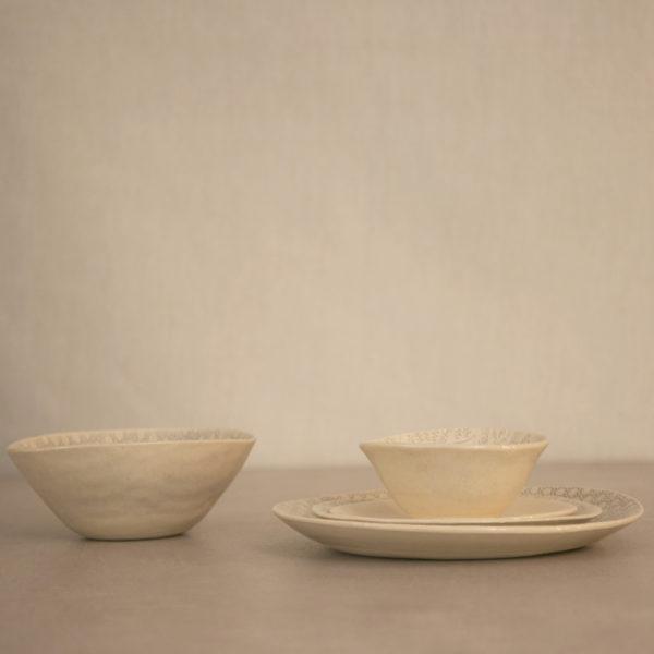 """Plato grande acabado """"egg"""" / """"ring"""" Sudáfrica handmade"""