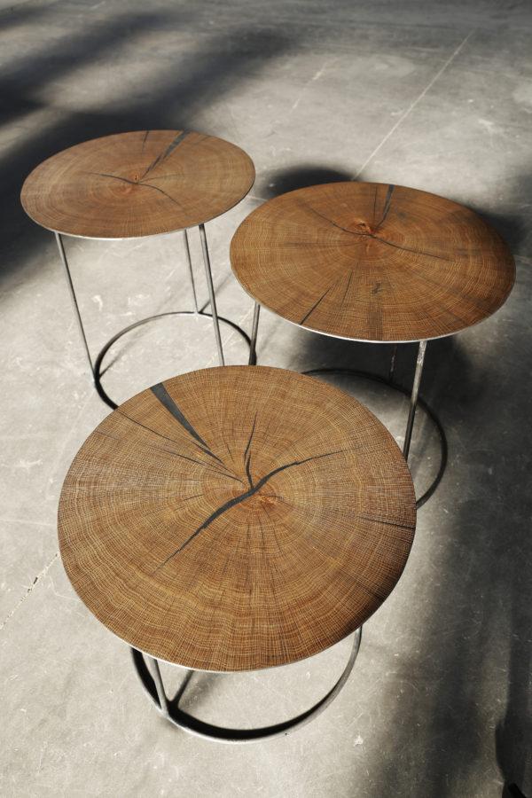 Mesa de centro tronco de árbol