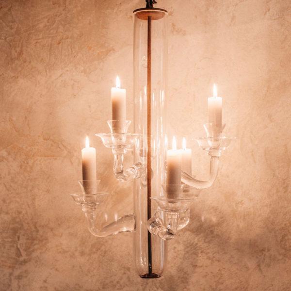 Lámpara de techo cristal candelabro
