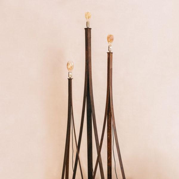 Lámpara de pie 3 ramas de acero Korten