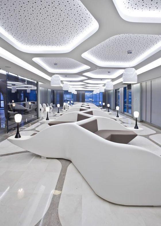 Decoraciones futuristas con Solid Surface