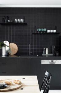 Azulejos para cocinas oscuras